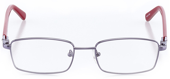 charleston: women's square eyeglasses in purple - front view