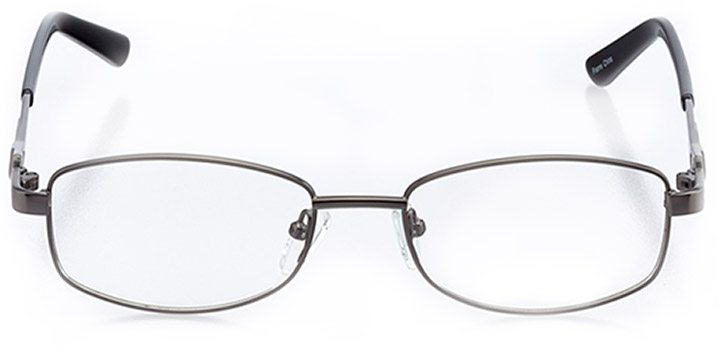 barre: women's rectangle eyeglasses in gray - front view