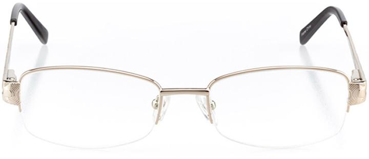 golden: women's rectangle eyeglasses in gold - front view