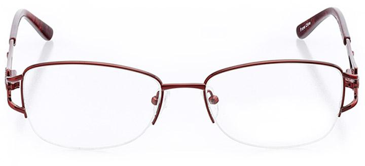 taos: women's oval eyeglasses in red - front view