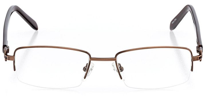 pasadena: women's rectangle eyeglasses in brown - front view
