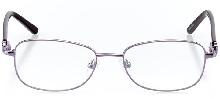 las vegas: women's rectangle eyeglasses in purple - front view
