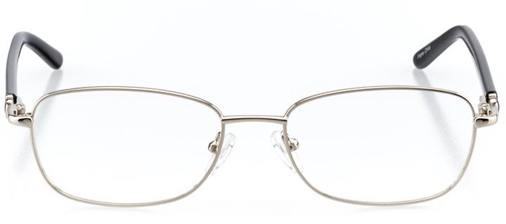 las vegas: women's rectangle eyeglasses in silver - front view