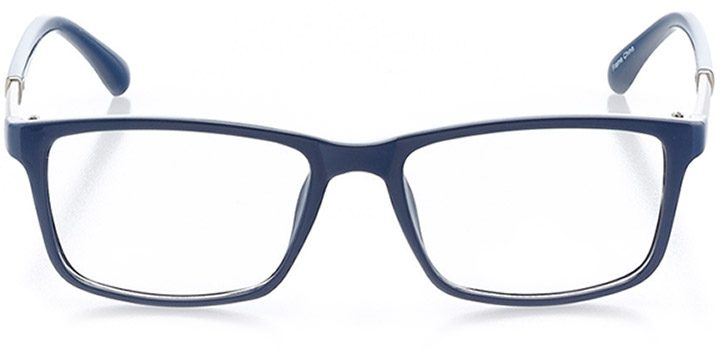 portofino: women's square eyeglasses in blue - front view