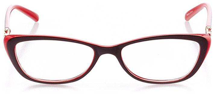 vernazza: women's cat eye eyeglasses in brown - front view