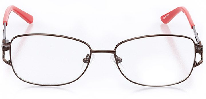 belluno: women's rectangle eyeglasses in brown - front view