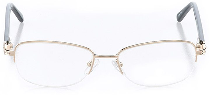 monte isola: women's oval eyeglasses in gold - front view