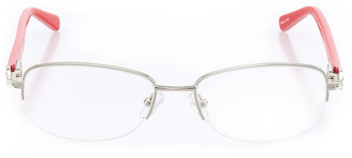 monte isola: women's oval eyeglasses in silver - front view