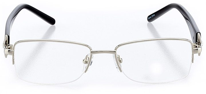 pisa: women's rectangle eyeglasses in black - front view