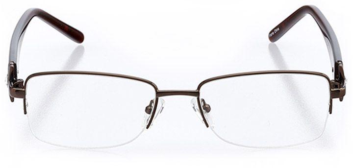 pisa: women's rectangle eyeglasses in brown - front view