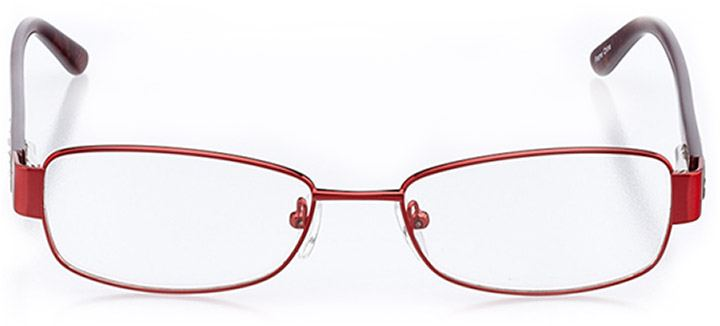 iseo: women's rectangle eyeglasses in red - front view