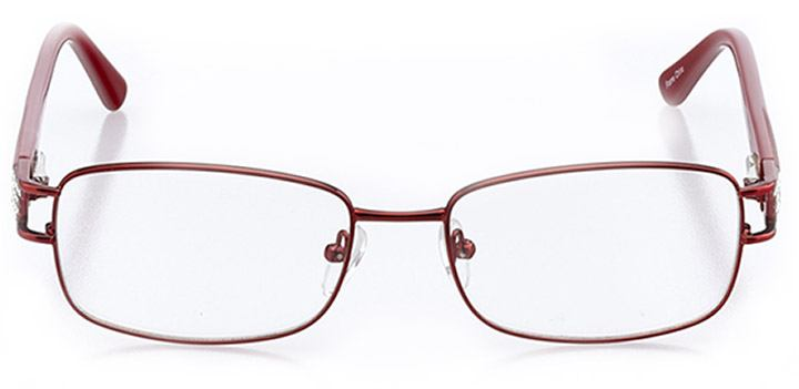 atri: women's rectangle eyeglasses in red - front view