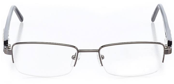 matera: women's rectangle eyeglasses in gray - front view