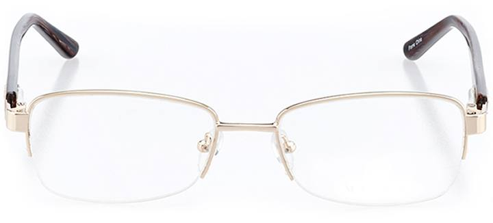 amalfi: women's rectangle eyeglasses in brown - front view