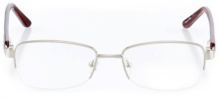 amalfi: women's rectangle eyeglasses in silver - front view