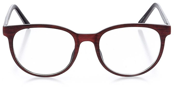 rome: unisex round eyeglasses in red - front view