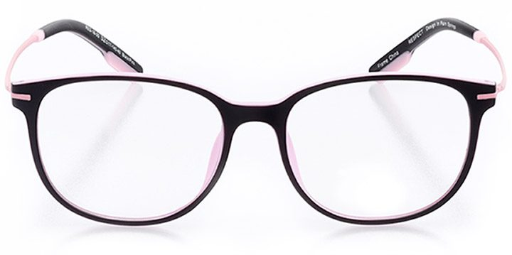 catalonia: women's round eyeglasses in pink - front view