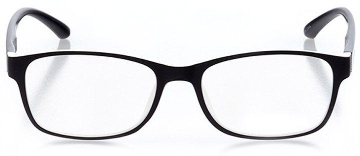 laguna beach: women's rectangle eyeglasses in black - front view
