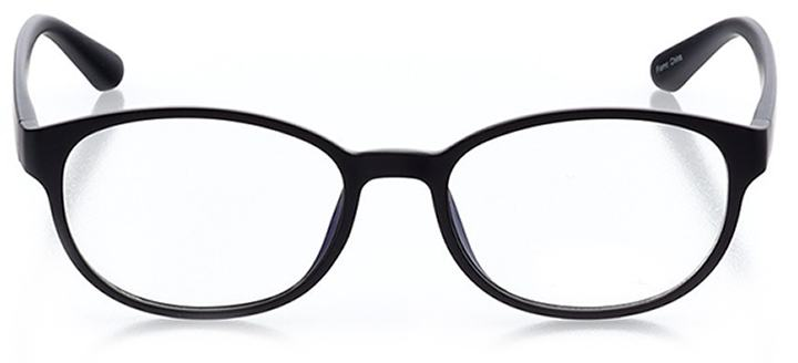 miami beach: women's round eyeglasses in black - front view