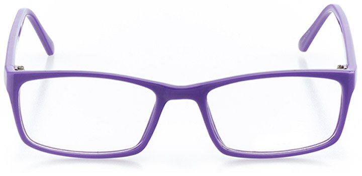 miami beach: women's round eyeglasses in purple - front view