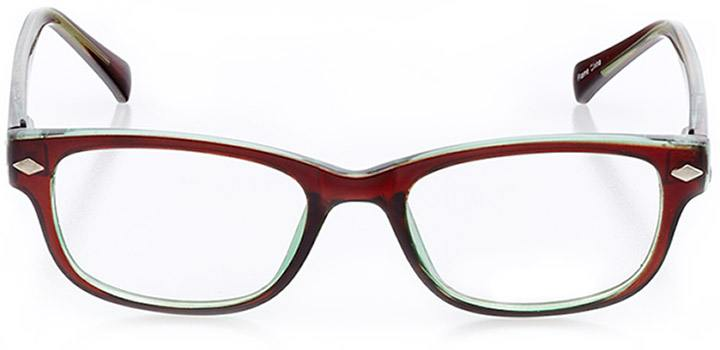 salento: women's square eyeglasses in brown - front view