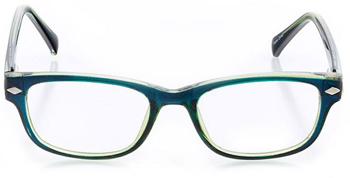 salento: women's square eyeglasses in green - front view