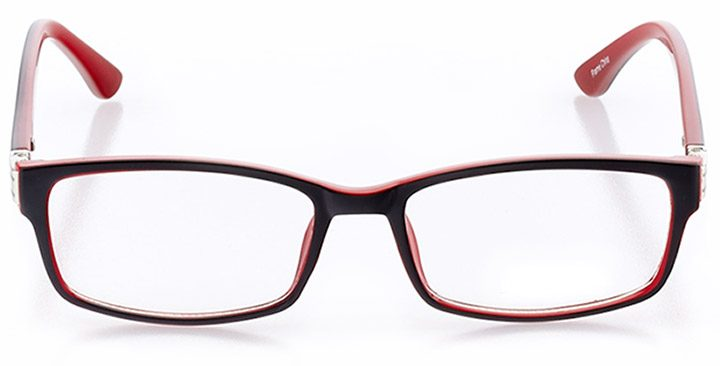 mandalay beach: women's rectangle eyeglasses in red - front view