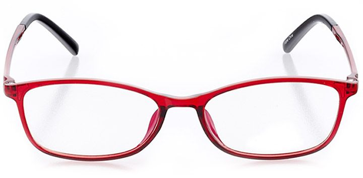 sunset cliffs: women's rectangle eyeglasses in red - front view