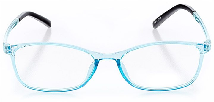 sunset cliffs: women's rectangle eyeglasses in blue - front view