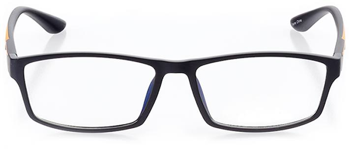 santorini: men's rectangle eyeglasses in orange - front view