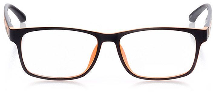 asbury park: men's square eyeglasses in orange - front view