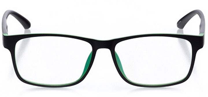 asbury parl: men's square eyeglasses in green - front view