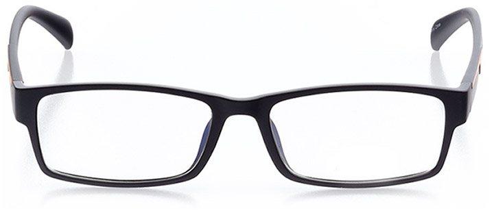 sanibel: men's rectangle eyeglasses in orange - front view