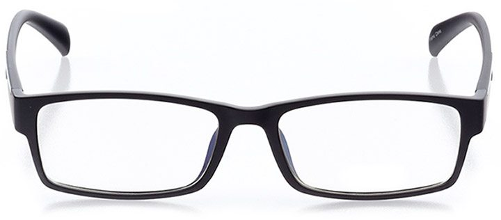 sanibel: men's rectangle eyeglasses in black - front view