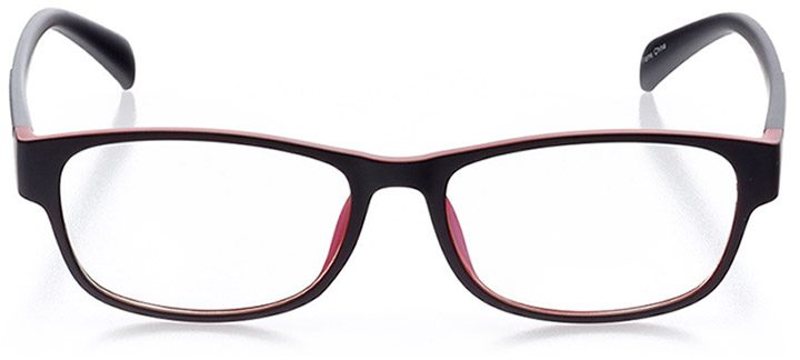 stinson beach: men's oval eyeglasses in red - front view