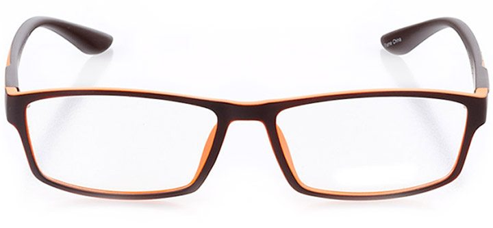 apollo bay: men's rectangle eyeglasses in orange - front view
