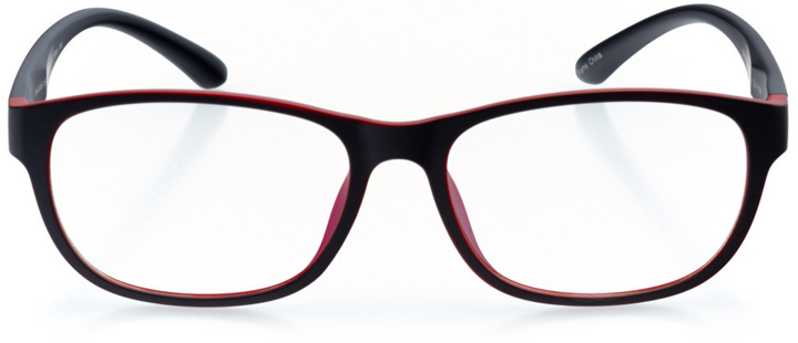 hermosa beach: men's oval eyeglasses in black - front view