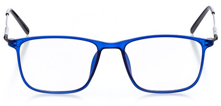 nags head: men's square eyeglasses in blue - front view