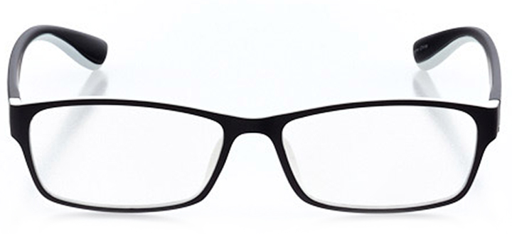 saugatuck: men's rectangle eyeglasses in black - front view