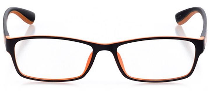 saugatuck: men's rectangle eyeglasses in orange - front view