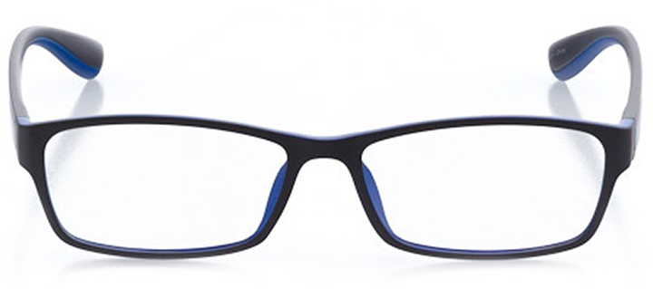 saugatuck: men's rectangle eyeglasses in blue - front view