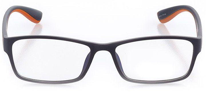 cannon beach: men's rectangle eyeglasses in orange - front view