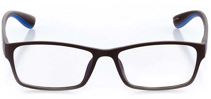 sausalito: men's rectangle eyeglasses in brown - front view