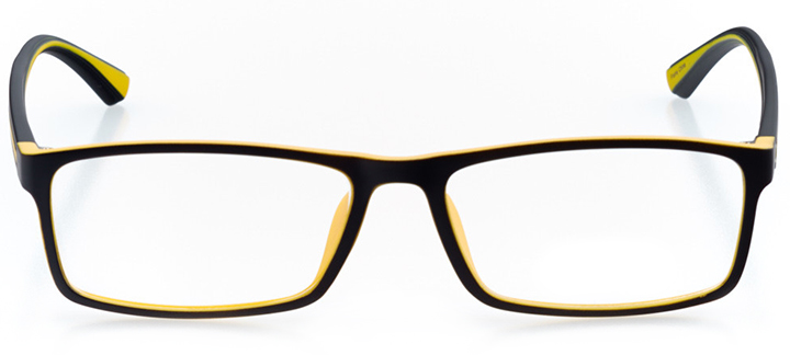 hobe sound: men's rectangle eyeglasses in yellow - front view