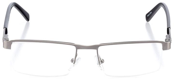 kite beach: men's rectangle eyeglasses in black - front view