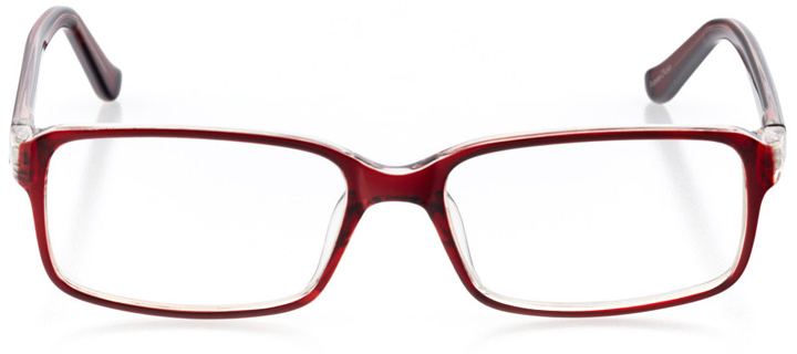 buenos aires: women's square eyeglasses in red - front view
