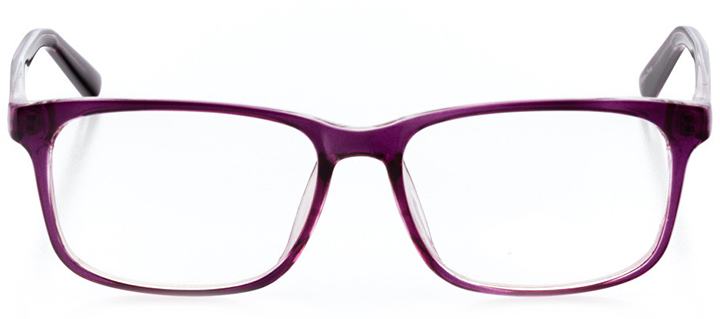 luxembourg city: women's square eyeglasses in purple - front view