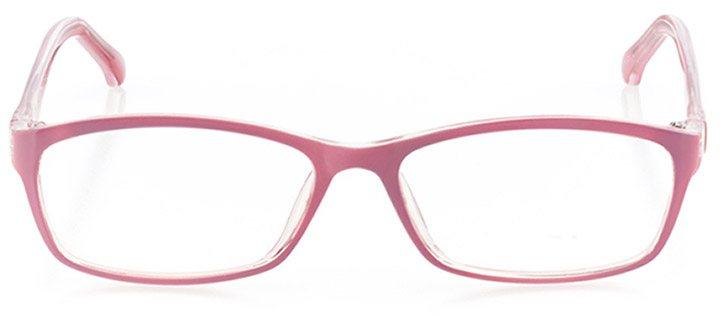san juan capistrano: women's rectangle eyeglasses in pink - front view