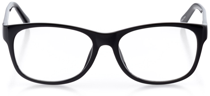 tokyo: women's square eyeglasses in black - front view