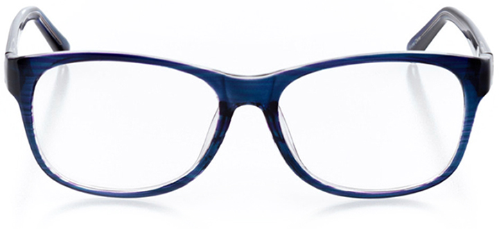 tokyo: women's square eyeglasses in blue - front view
